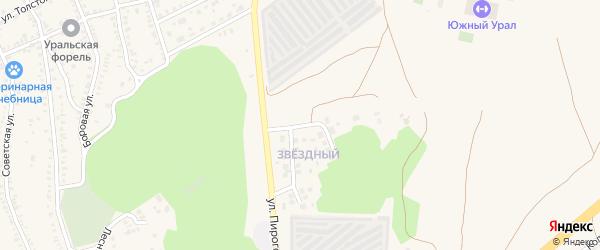 Звездная улица на карте Южноуральска с номерами домов