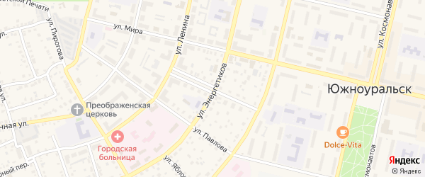 Улица Маяковского на карте Южноуральска с номерами домов
