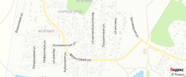 Великопетровская улица на карте Челябинска с номерами домов
