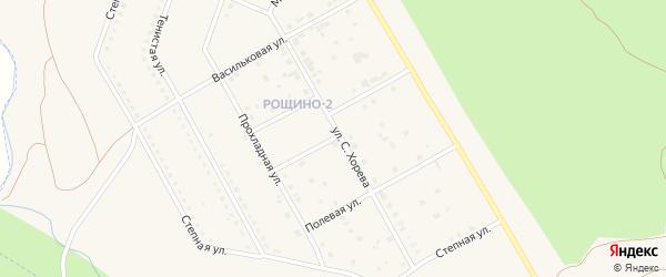 Ветвистая улица на карте Южноуральска с номерами домов