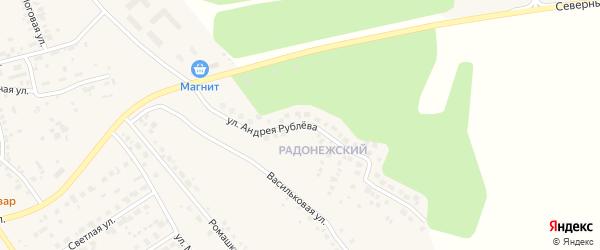 Улица Андрея Рублева на карте поселка Красного Поля с номерами домов
