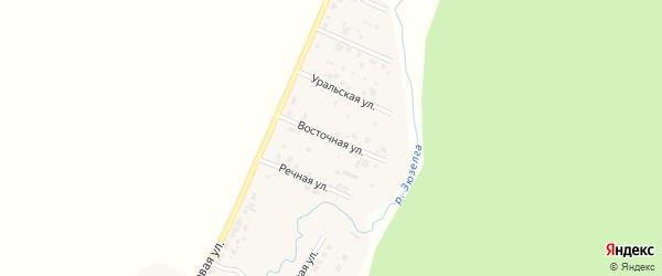 Восточная улица на карте деревни Ужевки с номерами домов