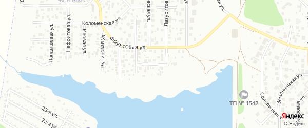 Ромашковая улица на карте Челябинска с номерами домов