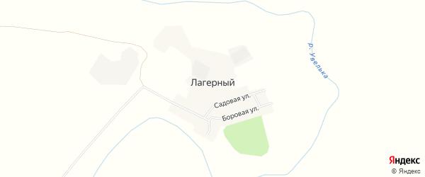 Карта Лагерного поселка в Челябинской области с улицами и номерами домов