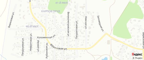 Янтарная улица на карте Челябинска с номерами домов