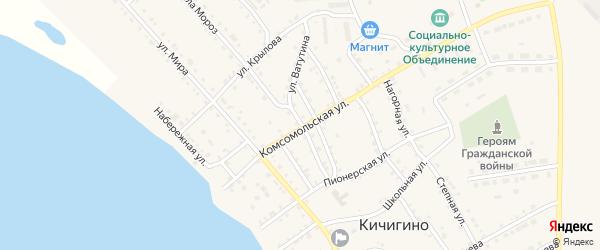Улица Гоголя на карте села Кичигино с номерами домов