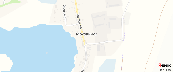 Озерная улица на карте деревни Моховички с номерами домов