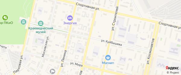 Улица Куйбышева на карте Южноуральска с номерами домов