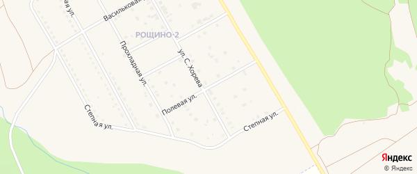Полевая улица на карте Южноуральска с номерами домов