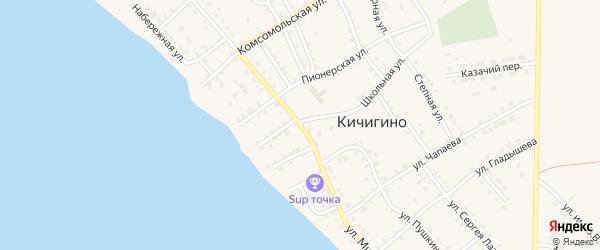 Улица Мира на карте села Кичигино с номерами домов