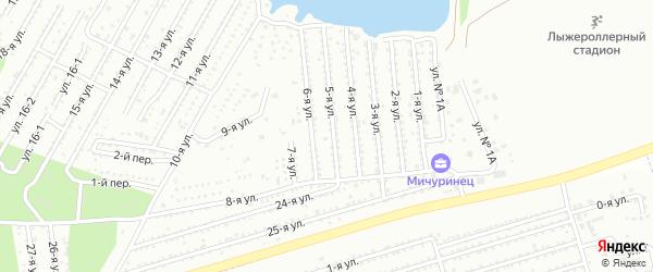 Сад СНТ Мичуринец на карте Челябинска с номерами домов