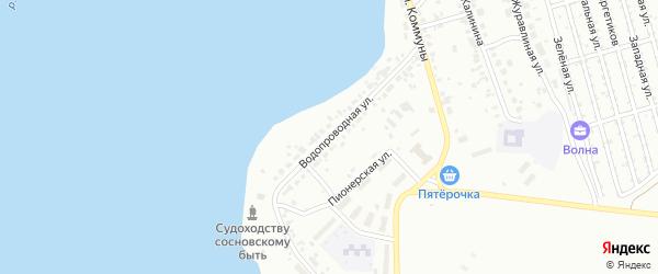 Водопроводная улица на карте Челябинска с номерами домов