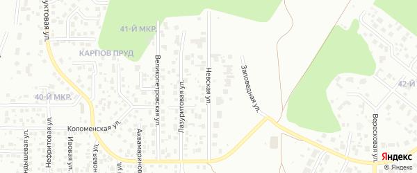 Невская улица на карте Челябинска с номерами домов