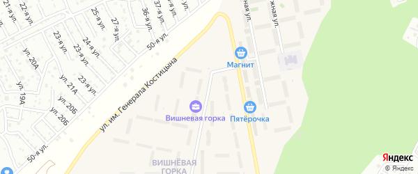 Проектная улица на карте Челябинска с номерами домов
