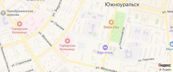 Улица Павлова на карте Южноуральска с номерами домов