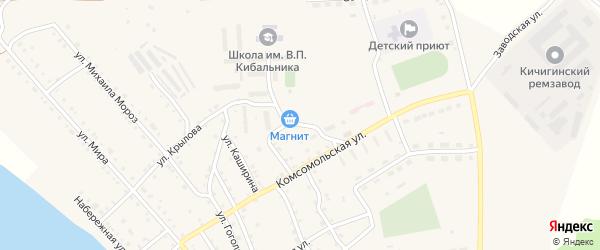 Улица Крылова на карте села Кичигино с номерами домов