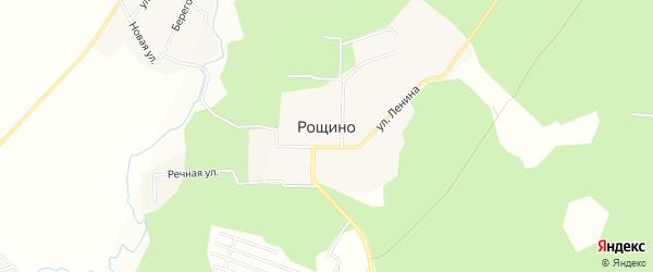 Карта поселка Рощино в Челябинской области с улицами и номерами домов