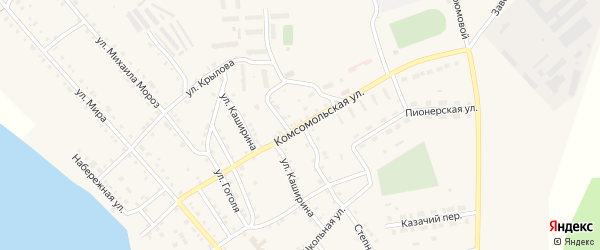 Комсомольская улица на карте села Кичигино с номерами домов
