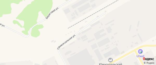 Привокзальная улица на карте Южноуральска с номерами домов