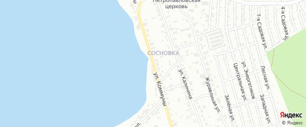 Улица Коммуны (Сосновка) на карте Челябинска с номерами домов