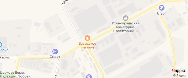 Заводская улица на карте Южноуральска с номерами домов