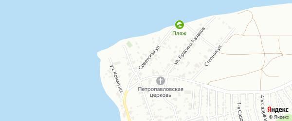 Улица Советская (Сосновка) на карте Челябинска с номерами домов