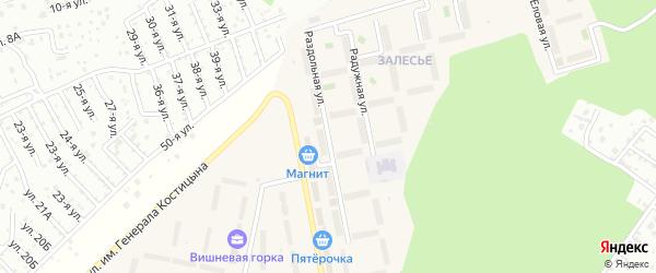 Улица Раздольная (мкр Западный-2) на карте Западного поселка с номерами домов