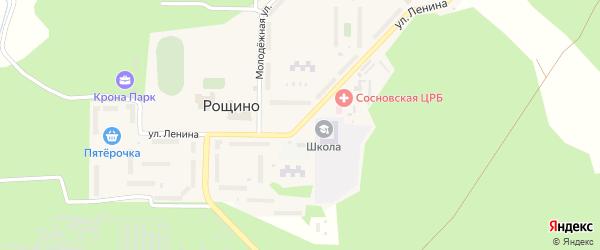 Улица Ленина на карте поселка Рощино с номерами домов