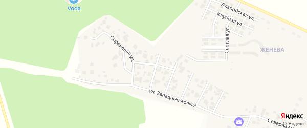 Улица Цветочный бульвар на карте Западного поселка с номерами домов