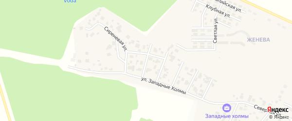 Улица Белая Акация на карте Западного поселка с номерами домов