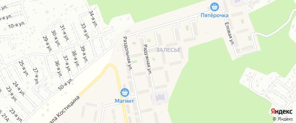 Улица Радужная (мкр Западный-2) на карте Западного поселка с номерами домов
