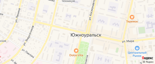 Улица Мира на карте Южноуральска с номерами домов