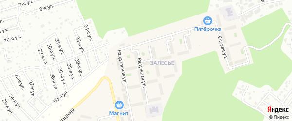 Улица Прохладная (мкр Залесье) на карте Западного поселка с номерами домов