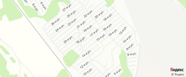 Карта территории СНТ Надежды в Челябинской области с улицами и номерами домов