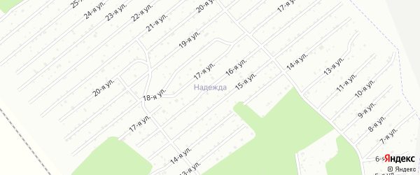 СНТ Надежда на карте Озерска с номерами домов