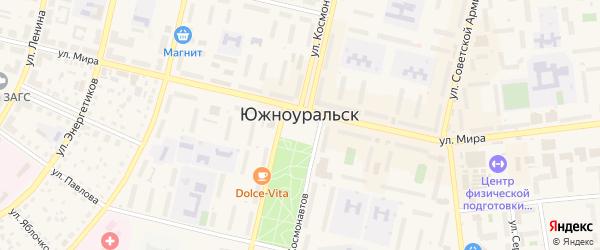Медовый переулок на карте Южноуральска с номерами домов