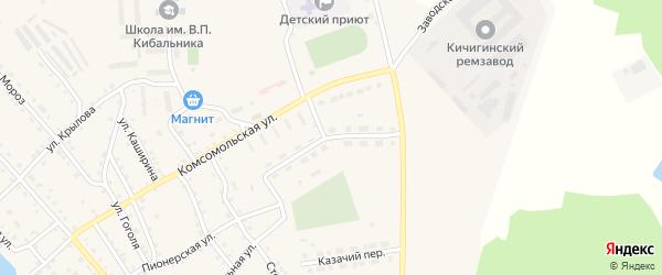 Пионерская улица на карте села Кичигино с номерами домов