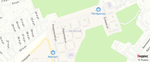 Улица Правобережная (мкр Залесье) на карте Западного поселка с номерами домов