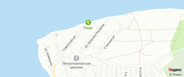 Улица Красных Казаков на карте Челябинска с номерами домов