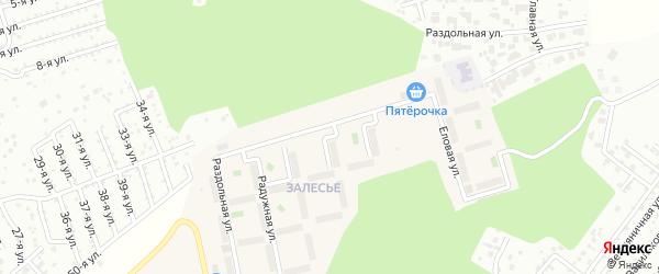 Улица Отрадная (мкр Залесье) на карте Западного поселка с номерами домов
