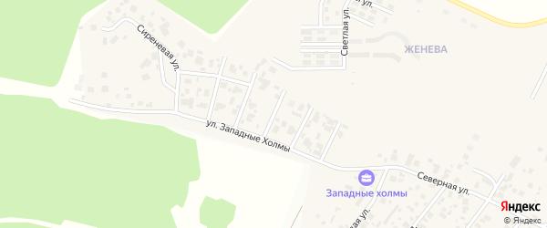 Березовая улица на карте Западного поселка с номерами домов