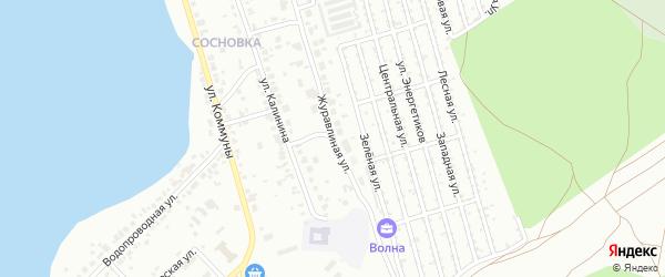 Журавлиная улица на карте Челябинска с номерами домов