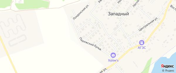 Петербуржская улица на карте Западного поселка с номерами домов