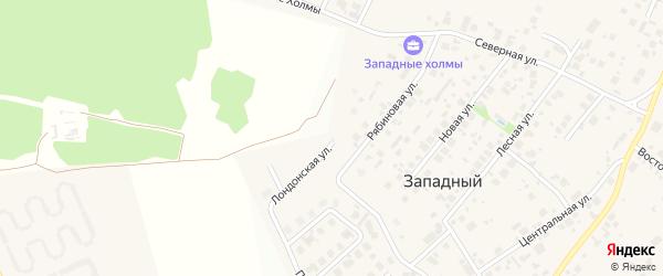 Площадь Солнца на карте Западного поселка с номерами домов