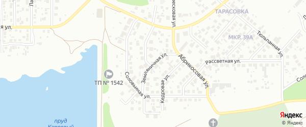 Земляничная улица на карте Челябинска с номерами домов