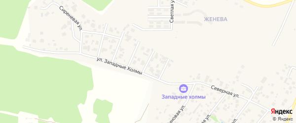 Кедровая улица на карте Западного поселка с номерами домов