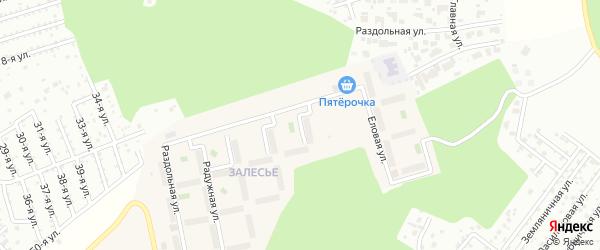 Улица Заповедная (мкр Залесье) на карте Западного поселка с номерами домов