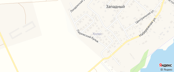 Бульвар Парижский (мкр Холмс) на карте Западного поселка с номерами домов