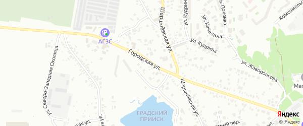 Городская улица на карте поселка Терема с номерами домов