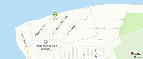 Улица Степная (Сосновка) на карте Челябинска с номерами домов